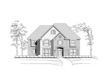 4-Bedroom, 3901 Sq Ft Luxury House Plan - 156-1898 - Front Exterior