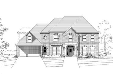 4-Bedroom, 4080 Sq Ft Luxury Home Plan - 156-1901 - Main Exterior