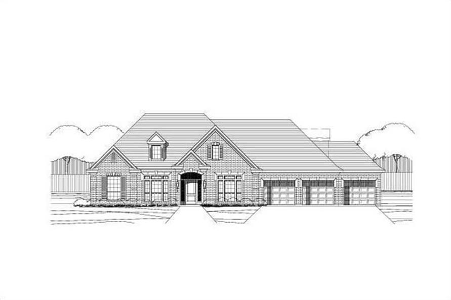 4-Bedroom, 2956 Sq Ft Ranch House Plan - 156-1903 - Front Exterior