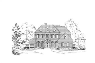 4-Bedroom, 7502 Sq Ft Luxury Home Plan - 156-1906 - Main Exterior