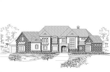 4-Bedroom, 6230 Sq Ft Country Home Plan - 156-1907 - Main Exterior
