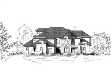 6-Bedroom, 6940 Sq Ft Mediterranean Home Plan - 156-1908 - Main Exterior