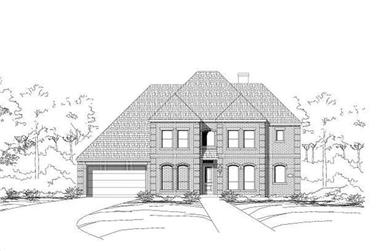 4-Bedroom, 4036 Sq Ft Luxury House Plan - 156-1912 - Front Exterior