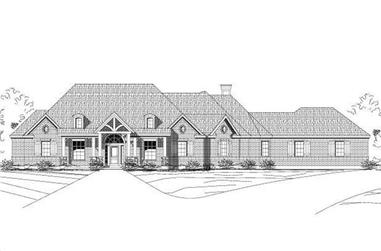 4-Bedroom, 2930 Sq Ft Country House Plan - 156-1913 - Front Exterior