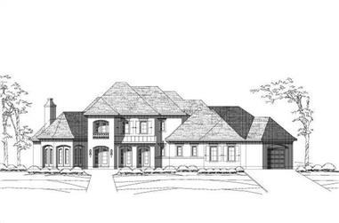 4-Bedroom, 4552 Sq Ft Luxury House Plan - 156-1914 - Front Exterior