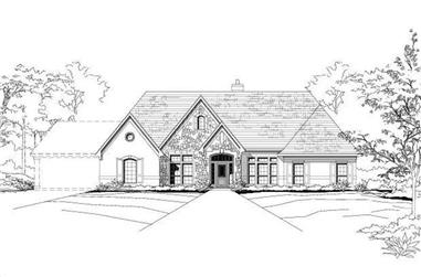 4-Bedroom, 3241 Sq Ft Country Home Plan - 156-1915 - Main Exterior