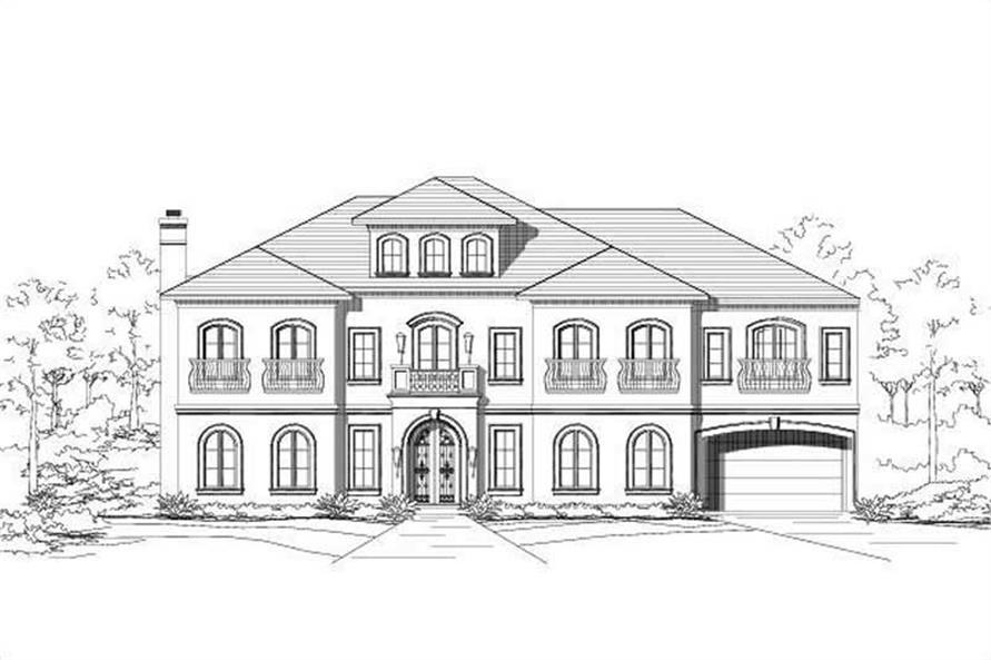 4-Bedroom, 4461 Sq Ft Country House Plan - 156-1916 - Front Exterior