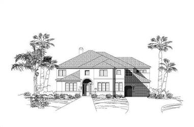 5-Bedroom, 5633 Sq Ft Luxury House Plan - 156-1917 - Front Exterior