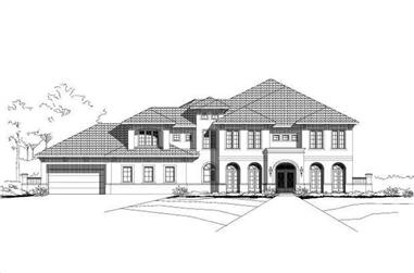5-Bedroom, 7293 Sq Ft Mediterranean House Plan - 156-1919 - Front Exterior