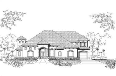 4-Bedroom, 5212 Sq Ft Luxury House Plan - 156-1921 - Front Exterior