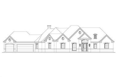 3-Bedroom, 2757 Sq Ft Country House Plan - 156-1924 - Front Exterior