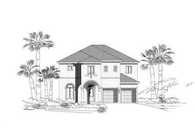 3-Bedroom, 3507 Sq Ft Mediterranean Home Plan - 156-1925 - Main Exterior