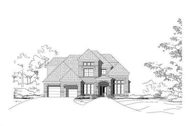 4-Bedroom, 2951 Sq Ft Traditional House Plan - 156-1926 - Front Exterior