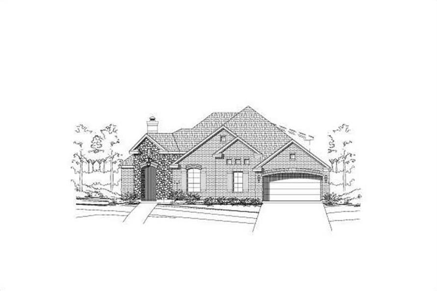 3-Bedroom, 2584 Sq Ft Ranch House Plan - 156-1927 - Front Exterior