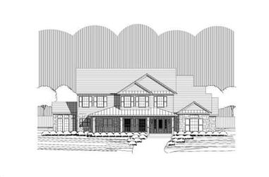 4-Bedroom, 3599 Sq Ft Country House Plan - 156-1928 - Front Exterior