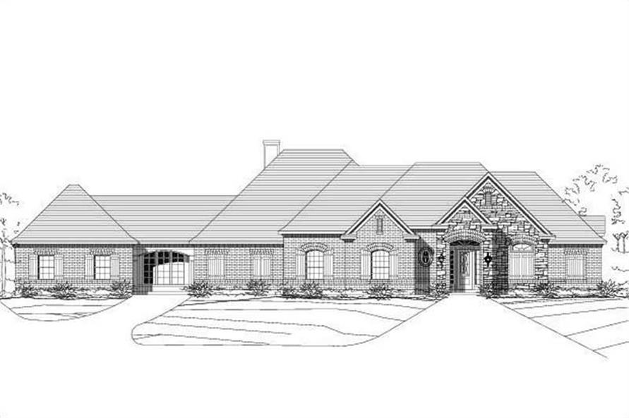 4-Bedroom, 3496 Sq Ft Country House Plan - 156-1929 - Front Exterior