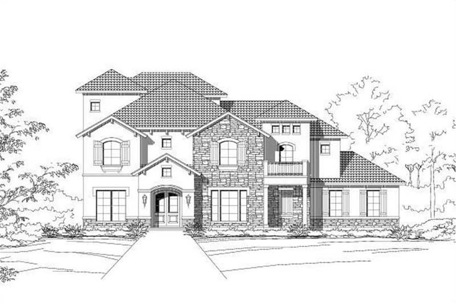 3-Bedroom, 3318 Sq Ft Country Home Plan - 156-1931 - Main Exterior