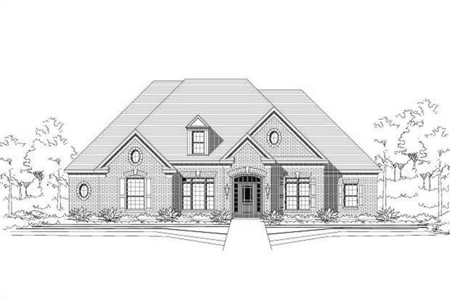 4-Bedroom, 3085 Sq Ft Ranch Home Plan - 156-1933 - Main Exterior