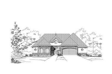 4-Bedroom, 3570 Sq Ft Country House Plan - 156-1939 - Front Exterior