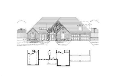 4-Bedroom, 2953 Sq Ft Country House Plan - 156-1941 - Front Exterior