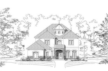 4-Bedroom, 3800 Sq Ft Spanish Home Plan - 156-1942 - Main Exterior