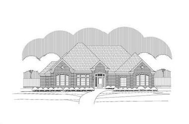 3-Bedroom, 2665 Sq Ft Ranch Home Plan - 156-1943 - Main Exterior