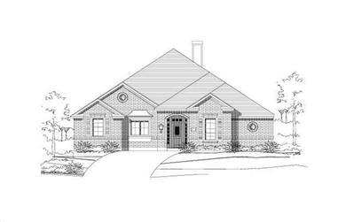 3-Bedroom, 2752 Sq Ft Ranch Home Plan - 156-1944 - Main Exterior