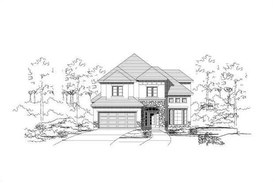 4-Bedroom, 2844 Sq Ft Mediterranean Home Plan - 156-1946 - Main Exterior