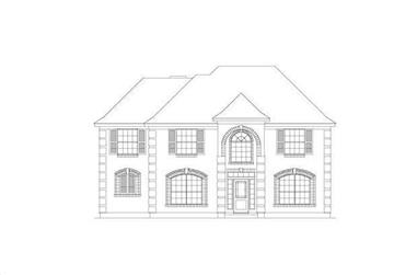4-Bedroom, 2672 Sq Ft Traditional House Plan - 156-1950 - Front Exterior