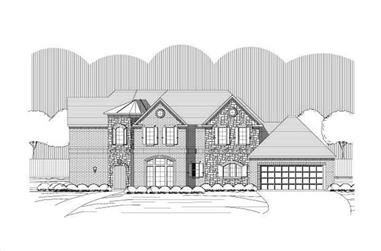 4-Bedroom, 3645 Sq Ft Country House Plan - 156-1954 - Front Exterior