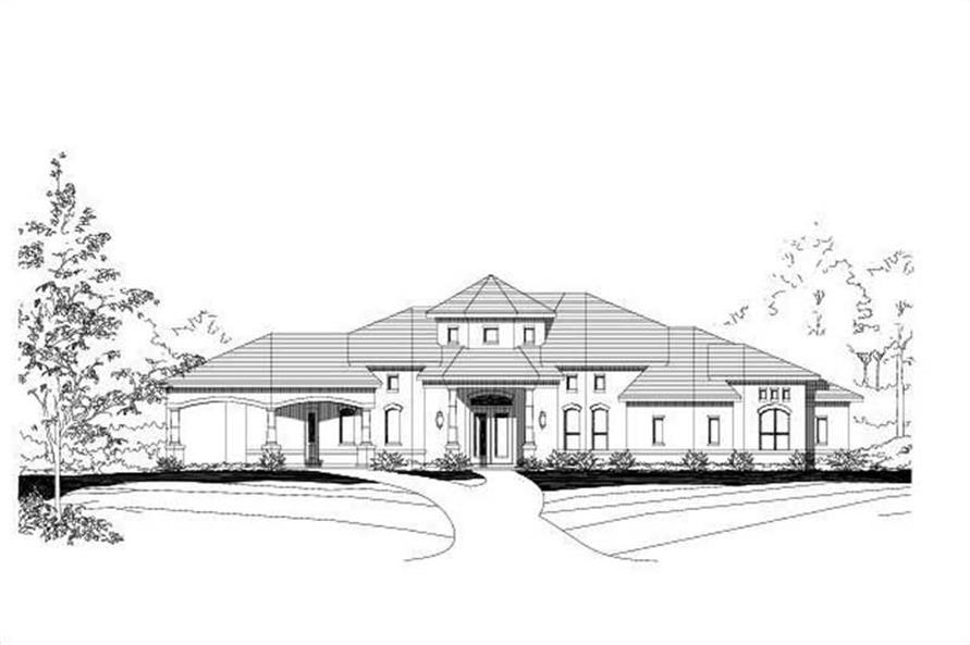 3-Bedroom, 3360 Sq Ft Contemporary Home Plan - 156-1955 - Main Exterior