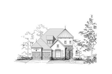 4-Bedroom, 3754 Sq Ft Luxury House Plan - 156-1956 - Front Exterior
