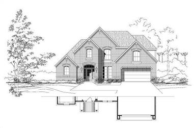 4-Bedroom, 2932 Sq Ft Traditional House Plan - 156-1958 - Front Exterior