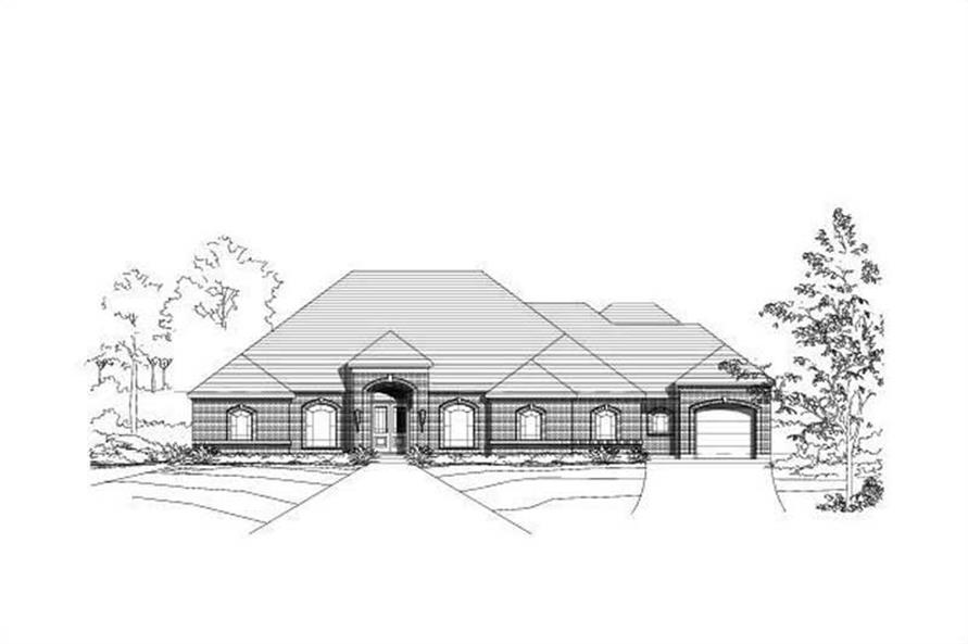 4-Bedroom, 4099 Sq Ft Luxury House Plan - 156-1960 - Front Exterior