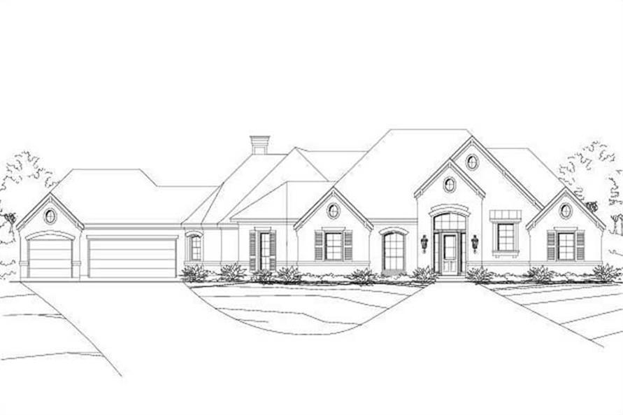 3-Bedroom, 2757 Sq Ft Ranch House Plan - 156-1961 - Front Exterior