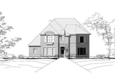 4-Bedroom, 3566 Sq Ft Country Home Plan - 156-1962 - Main Exterior