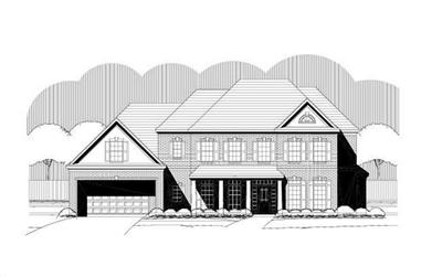 4-Bedroom, 3598 Sq Ft Luxury Home Plan - 156-1963 - Main Exterior