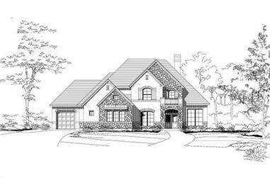4-Bedroom, 3686 Sq Ft Country Home Plan - 156-1964 - Main Exterior