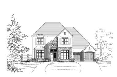4-Bedroom, 3851 Sq Ft Country House Plan - 156-1967 - Front Exterior