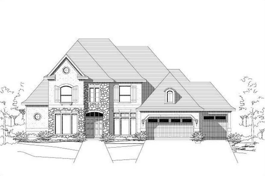 5-Bedroom, 3970 Sq Ft Country Home Plan - 156-1968 - Main Exterior
