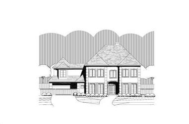 4-Bedroom, 3895 Sq Ft Luxury Home Plan - 156-1969 - Main Exterior