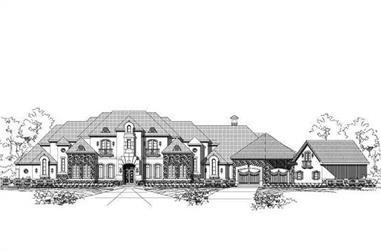 5-Bedroom, 8916 Sq Ft French Home Plan - 156-1970 - Main Exterior