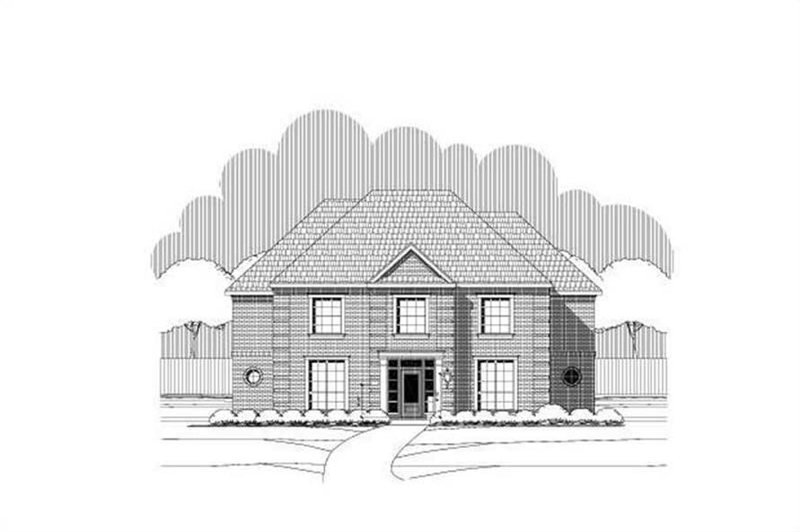 6-Bedroom, 4340 Sq Ft Luxury House Plan - 156-1971 - Front Exterior