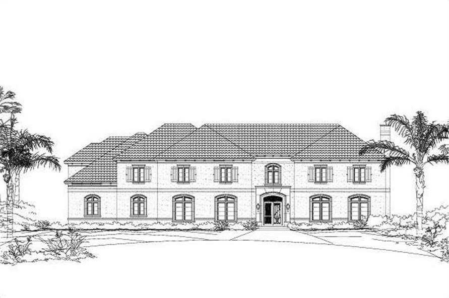5-Bedroom, 7804 Sq Ft Luxury Home Plan - 156-1972 - Main Exterior