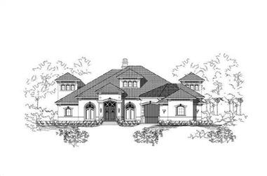 3-Bedroom, 4561 Sq Ft Mediterranean House Plan - 156-1973 - Front Exterior