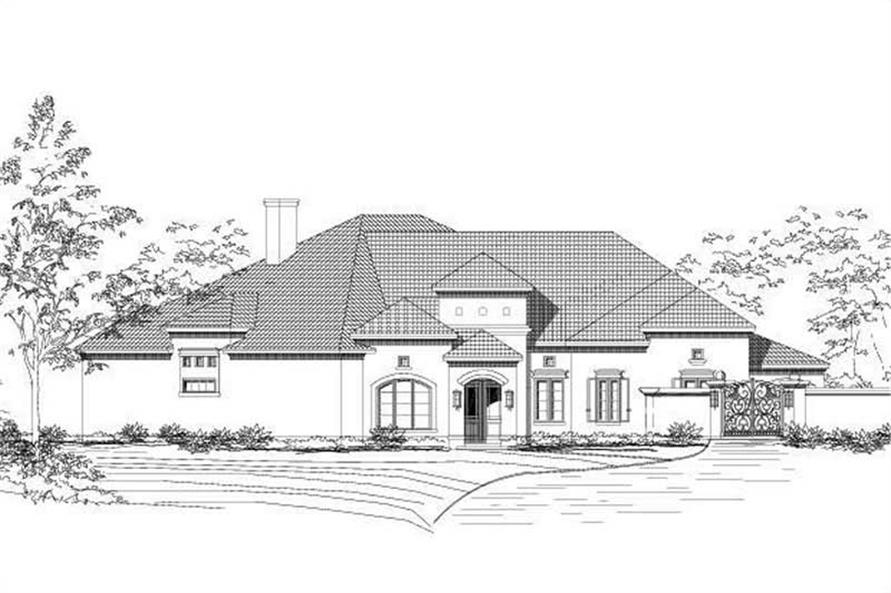 4-Bedroom, 4405 Sq Ft Contemporary House Plan - 156-1975 - Front Exterior