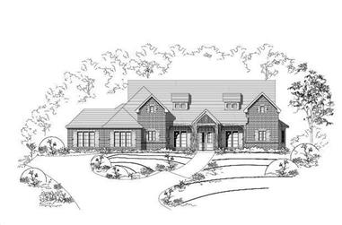 4-Bedroom, 3967 Sq Ft Country House Plan - 156-1976 - Front Exterior