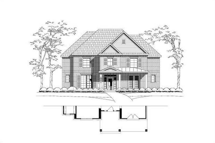6-Bedroom, 4340 Sq Ft Luxury Home Plan - 156-1977 - Main Exterior