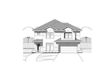 4-Bedroom, 2719 Sq Ft Mediterranean House Plan - 156-1978 - Front Exterior
