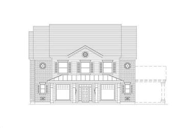 5-Bedroom, 3770 Sq Ft Craftsman Home Plan - 156-1979 - Main Exterior